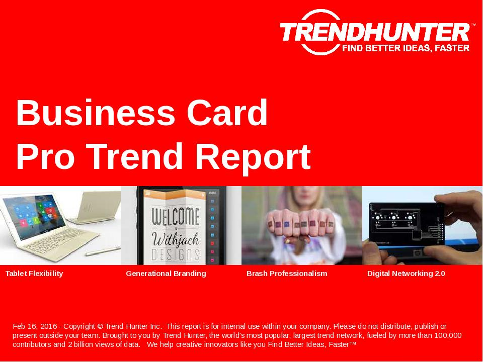 Business Card Trend Report Research