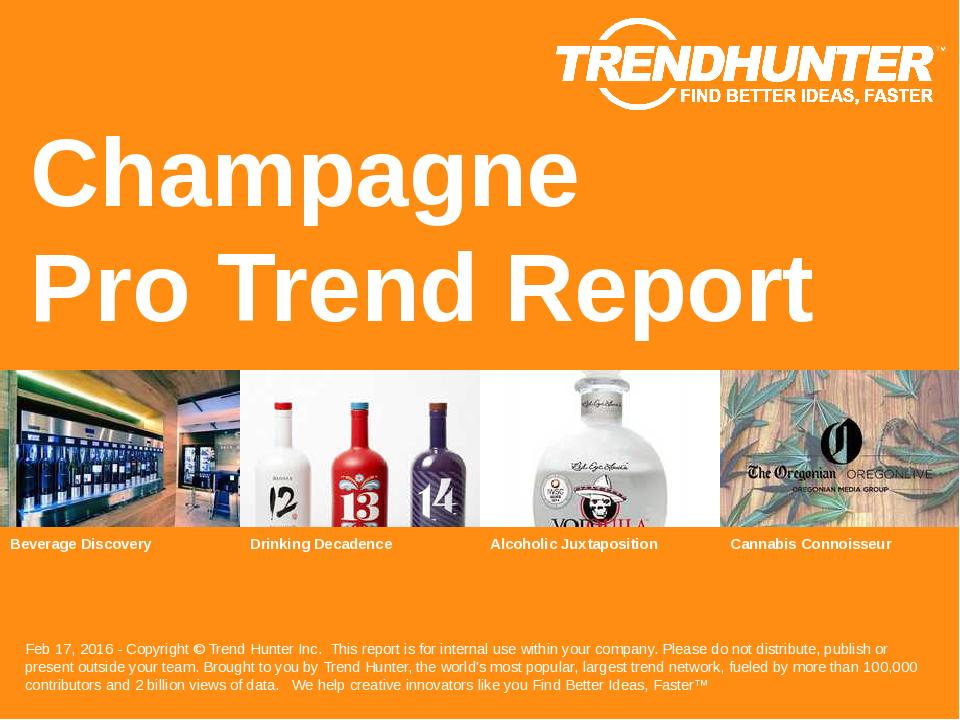 Champagne Trend Report Research
