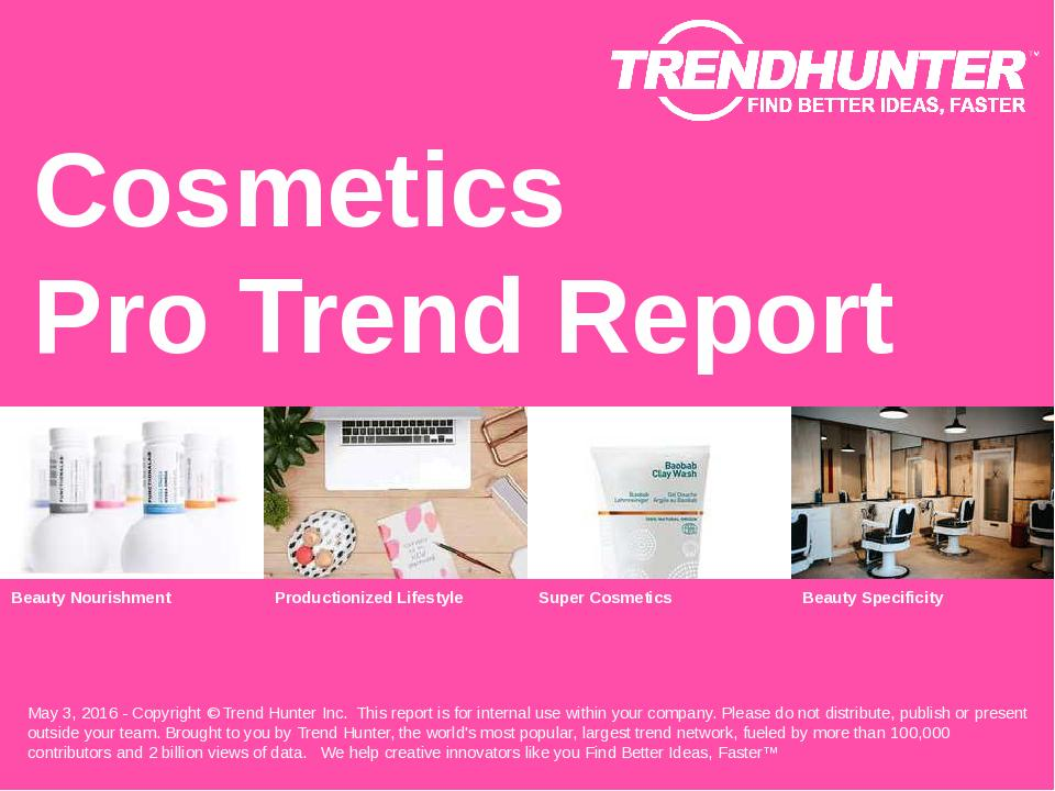 Cosmetics Trend Report Research