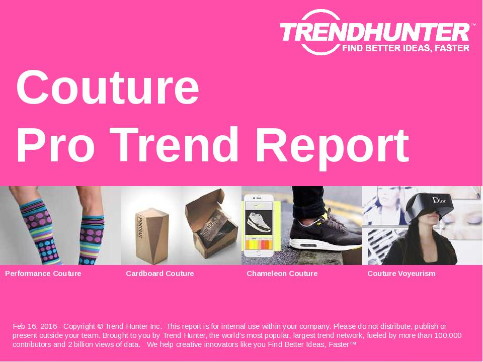 Couture Trend Report Research