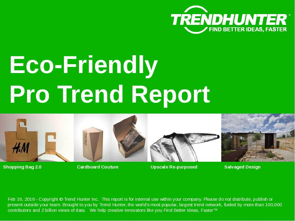 Eco-Friendly Trend Report Research