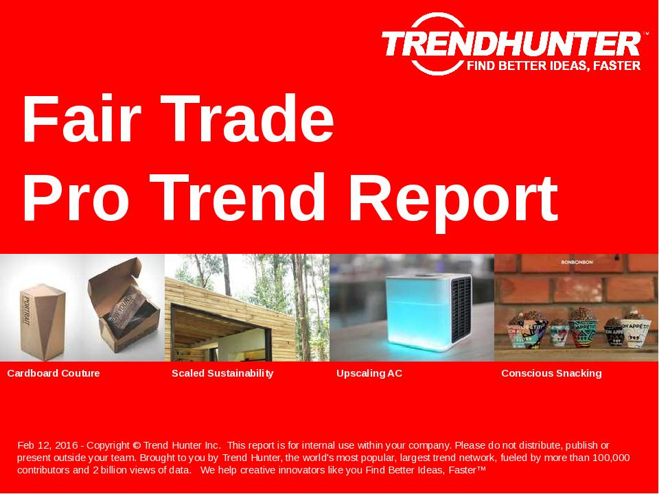 Fair Trade Trend Report Research
