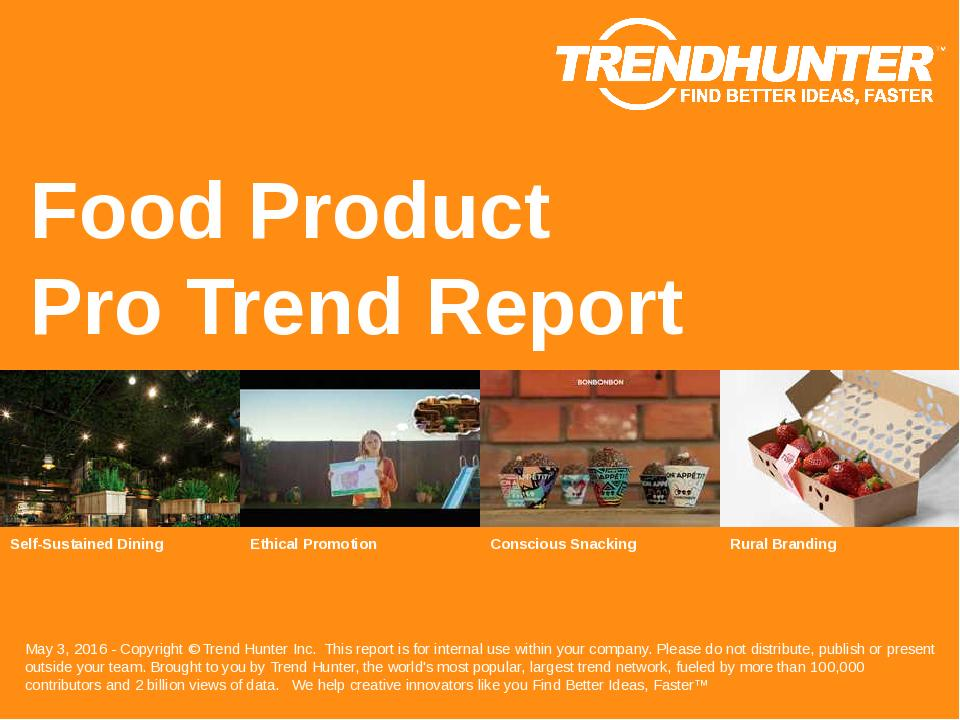 Food Product Trend Report Research