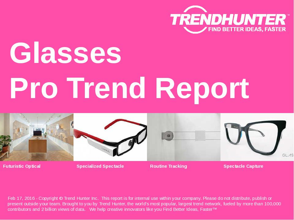 Glasses Trend Report Research