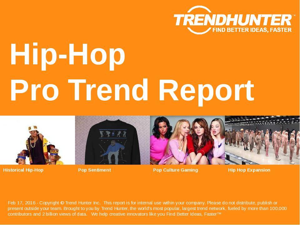 Hip-Hop Trend Report Research