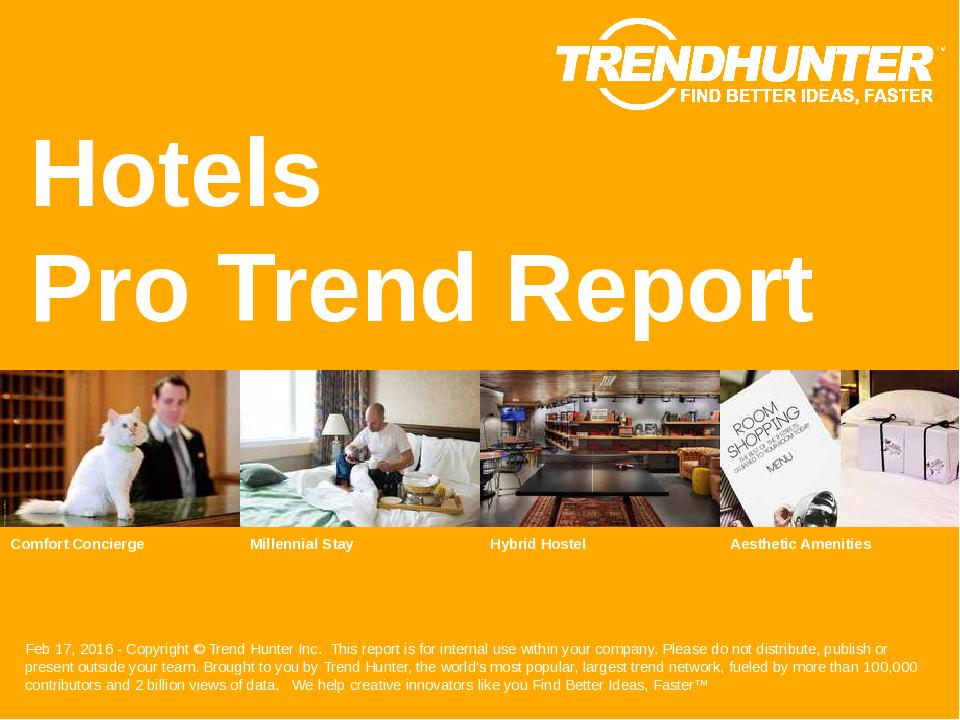 Hotels Trend Report Research