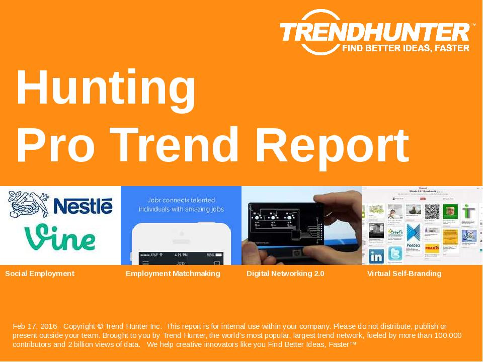Hunting Trend Report Research