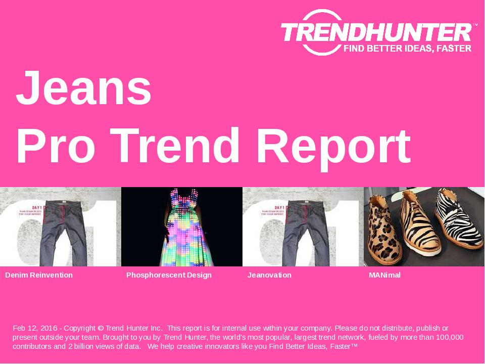 Jeans Trend Report Research