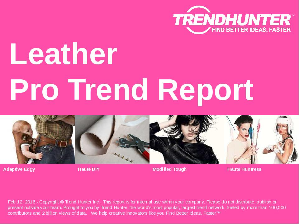 Leather Trend Report Research