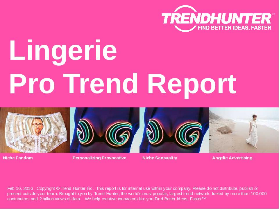 Lingerie Trend Report Research