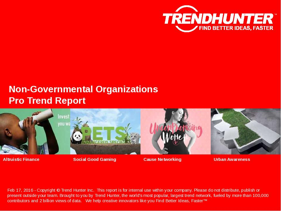 Non-Governmental Organizations Trend Report Research