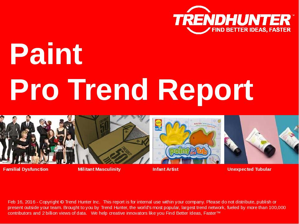Paint Trend Report Research