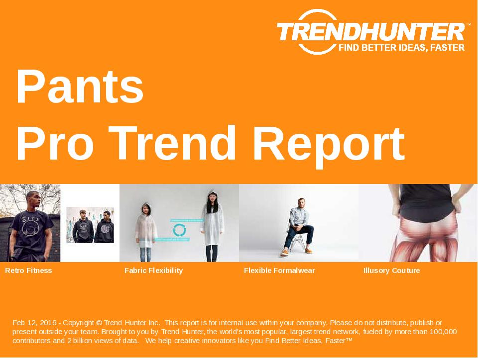 Pants Trend Report Research