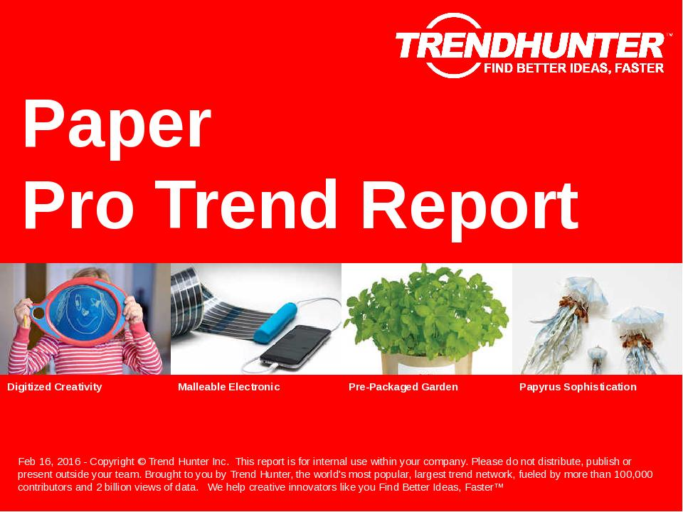 Paper Trend Report Research