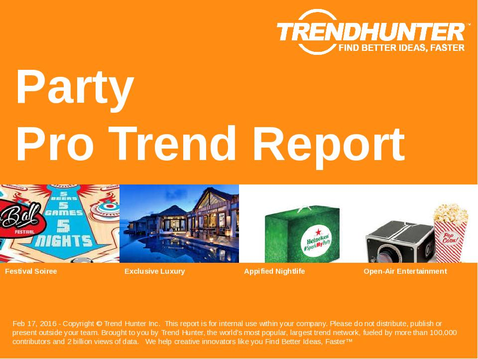 Party Trend Report Research