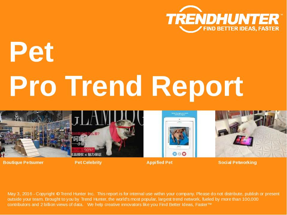 Pet Trend Report Research