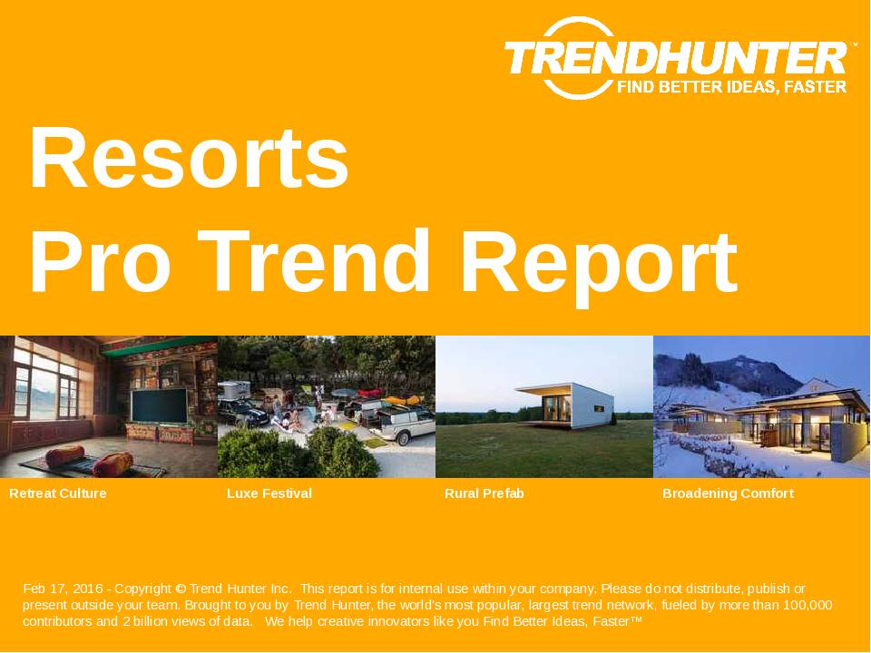 Resorts Trend Report Research