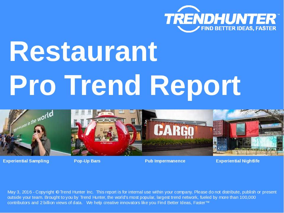 Restaurant Trend Report Research