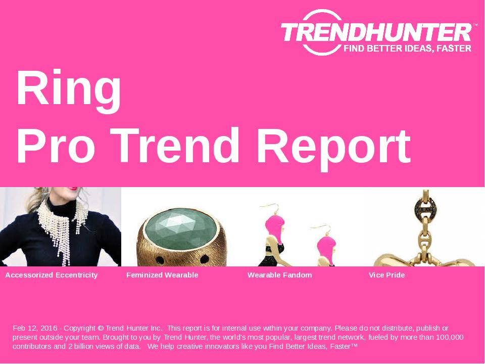 Ring Trend Report Research