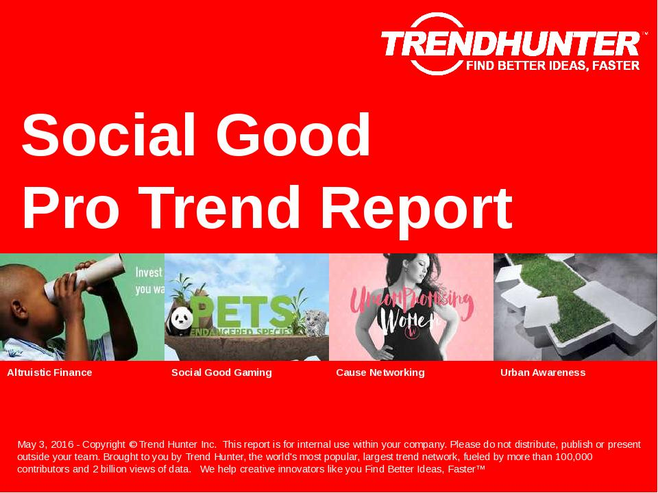 Social Good Trend Report Research