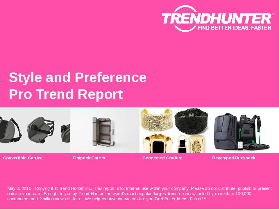 Style and Preference Trend Report Research