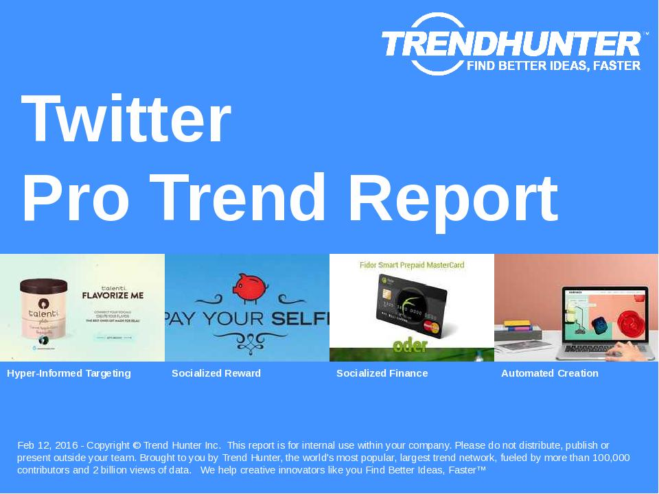 Twitter Trend Report Research