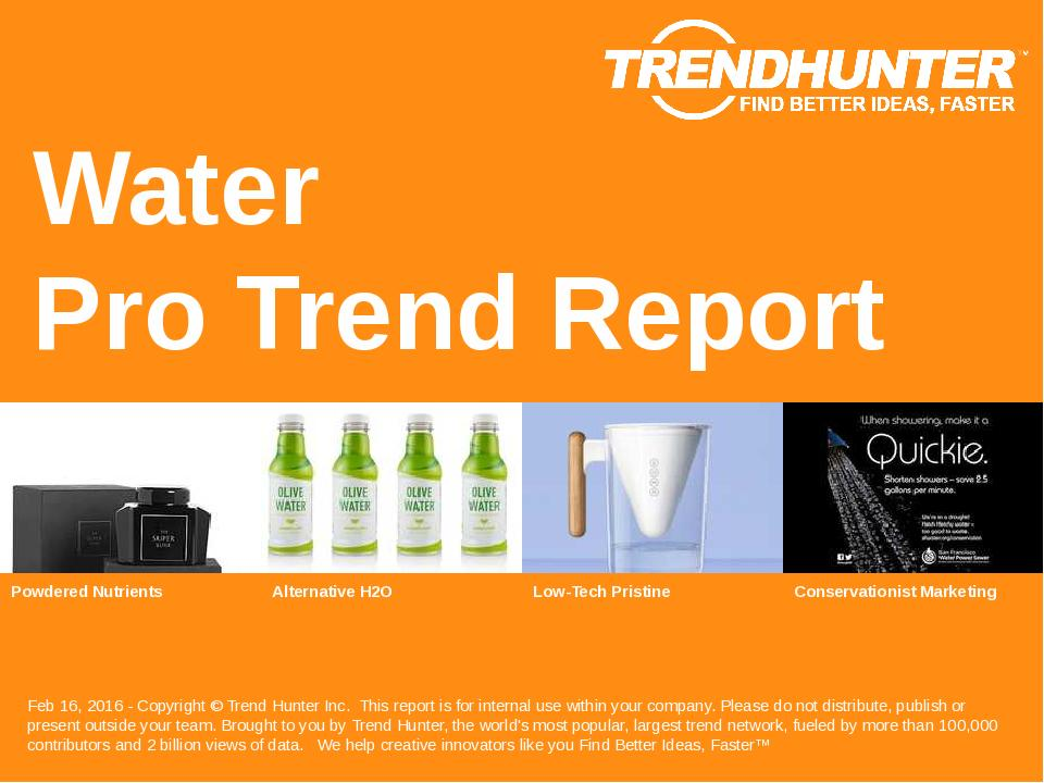 Water Trend Report Research