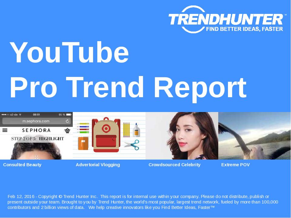 YouTube Trend Report Research