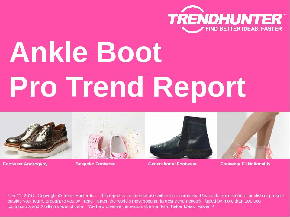 Ankle Boot Trend Report Research