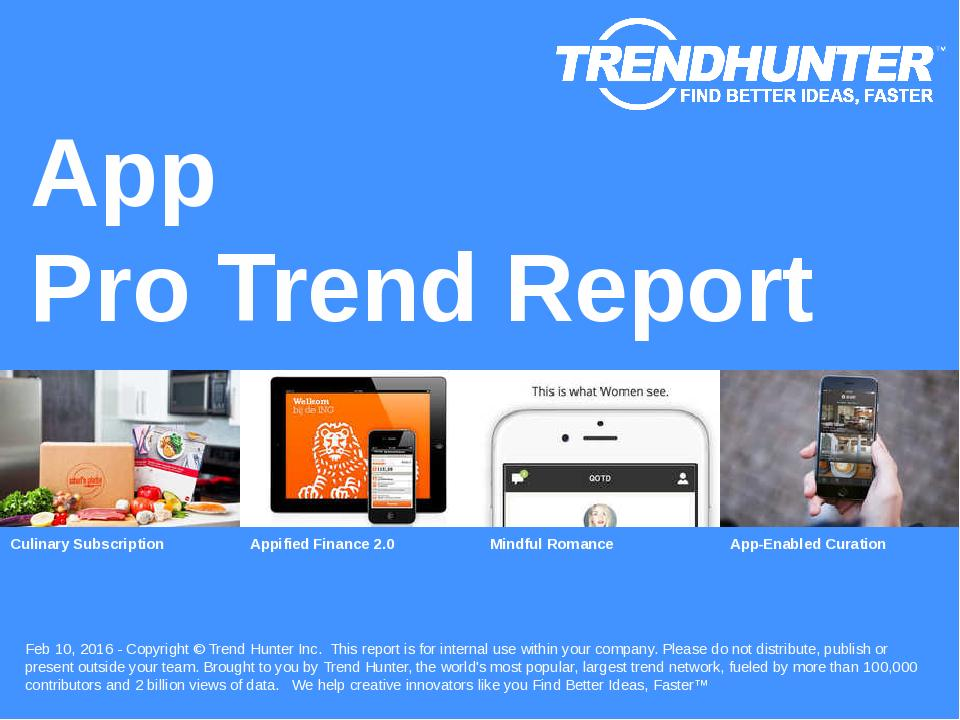 App Trend Report Research