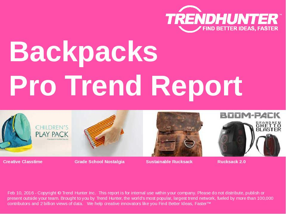 Backpacks Trend Report Research