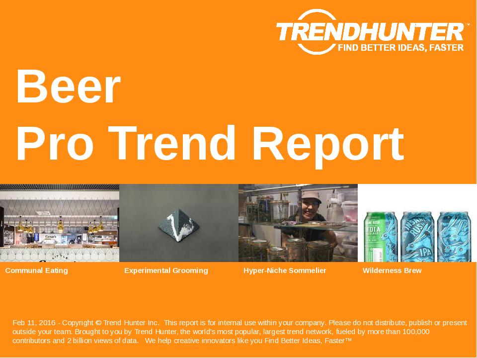 Beer Trend Report Research