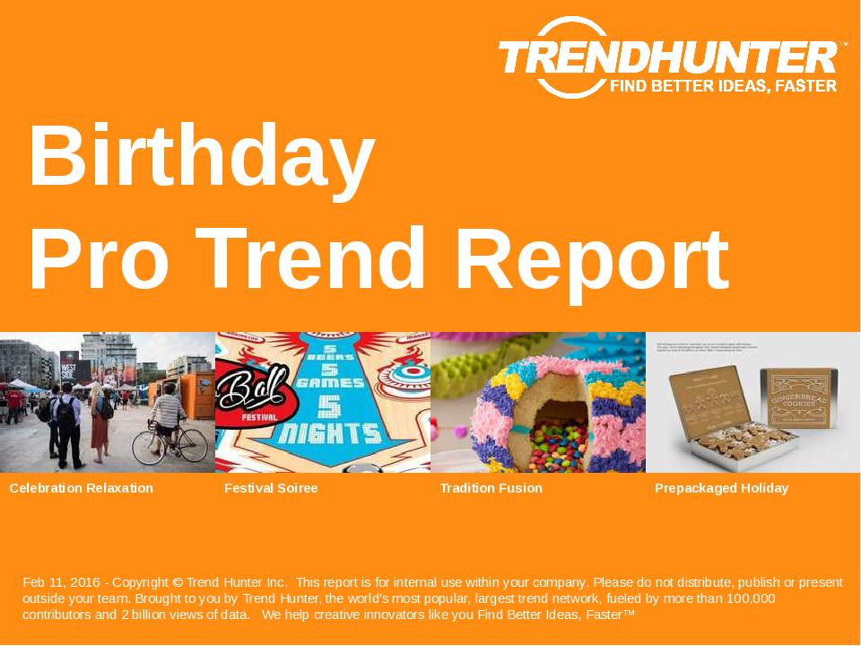 Birthday Trend Report Research