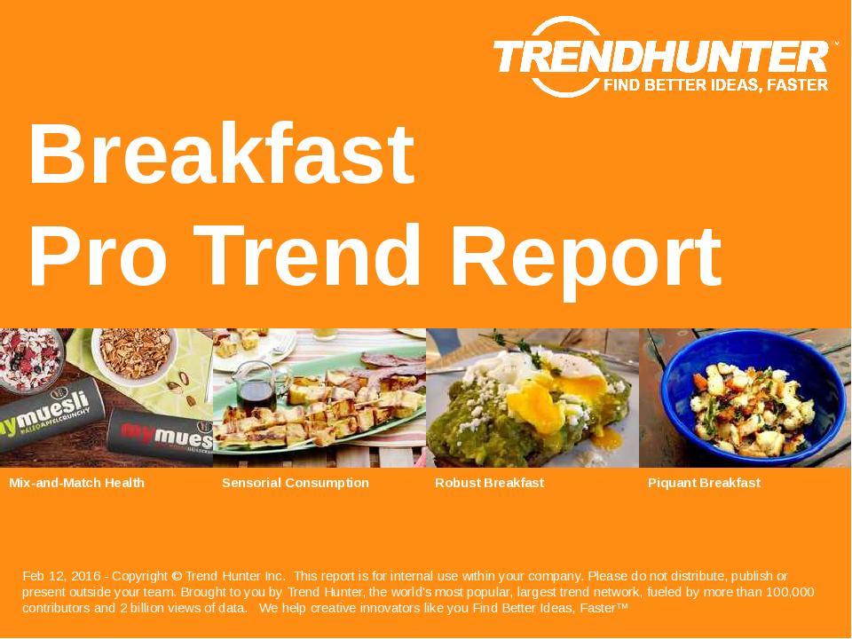 Breakfast Trend Report Research