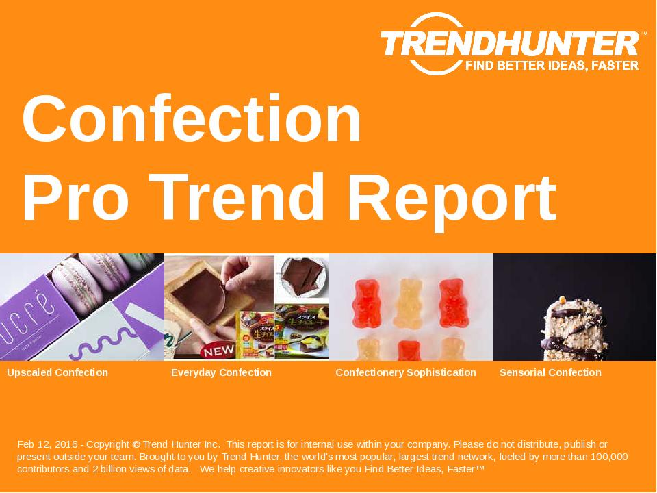 Confection Trend Report Research