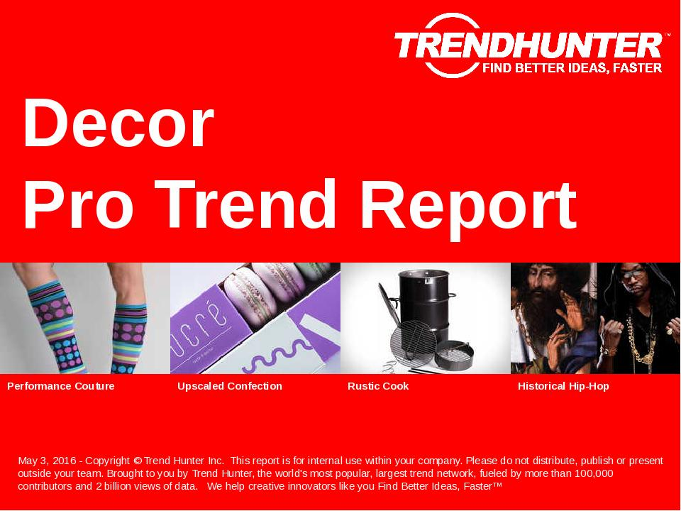 Decor Trend Report Research