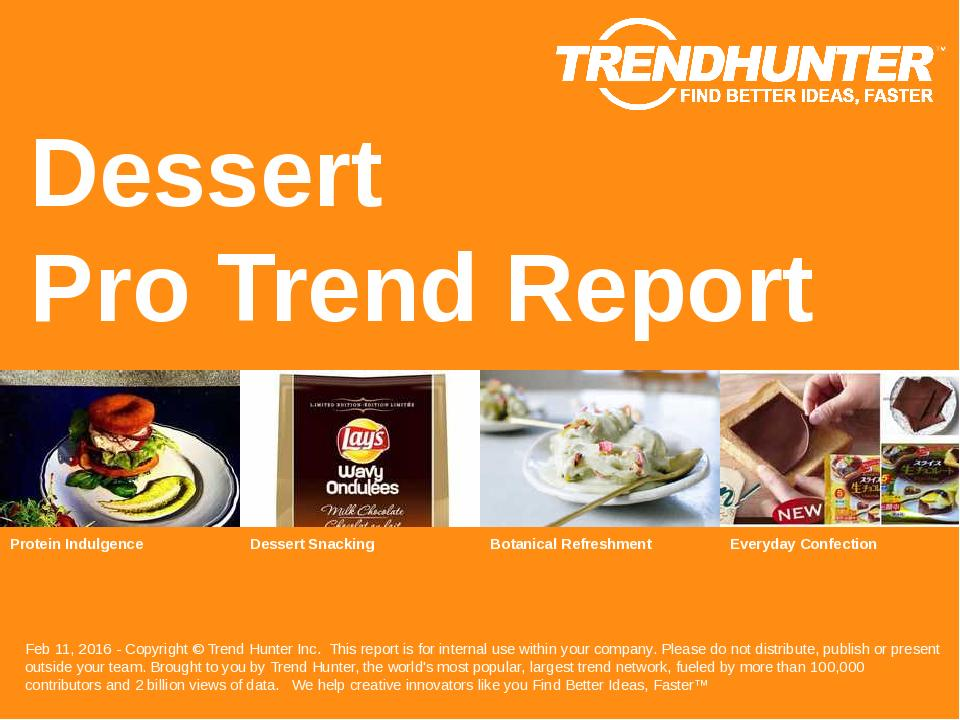 Dessert Trend Report Research