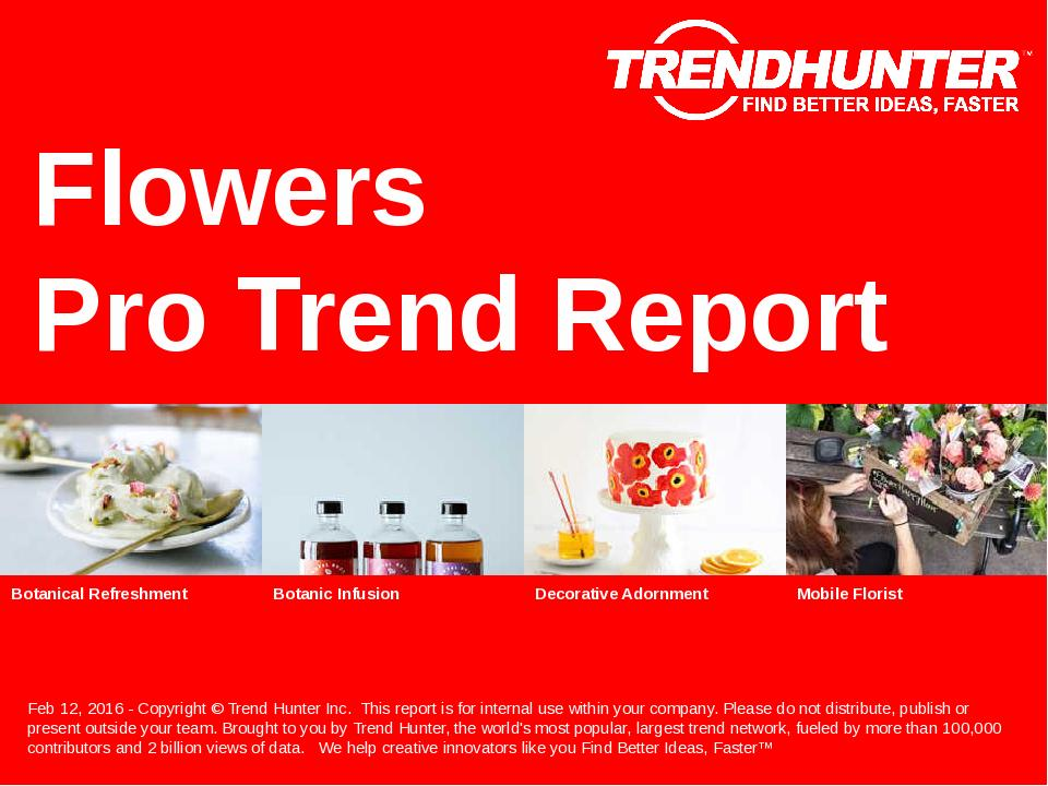Flowers Trend Report Research