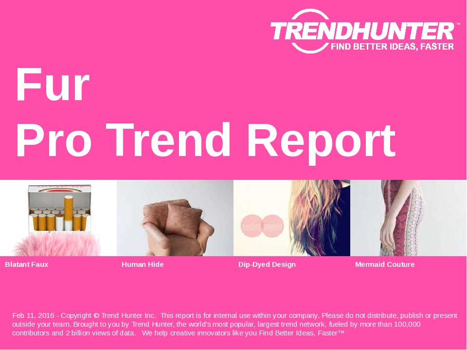 Fur Trend Report Research
