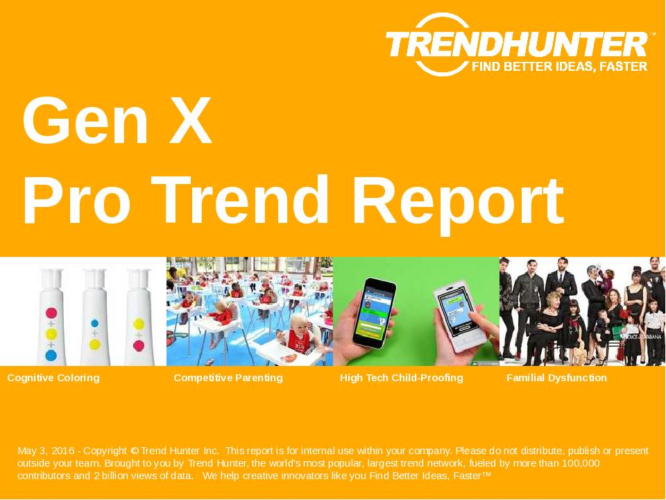 Gen X Trend Report Research