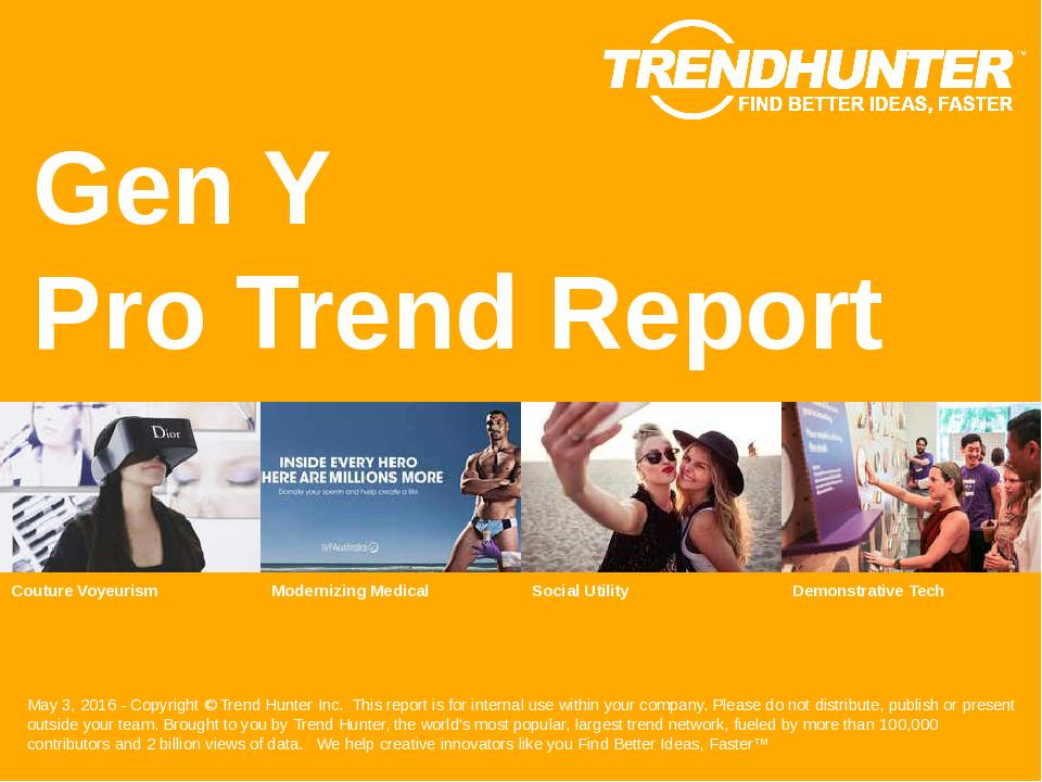 Gen Y Trend Report Research