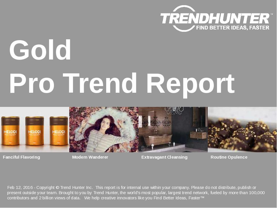 Gold Trend Report Research