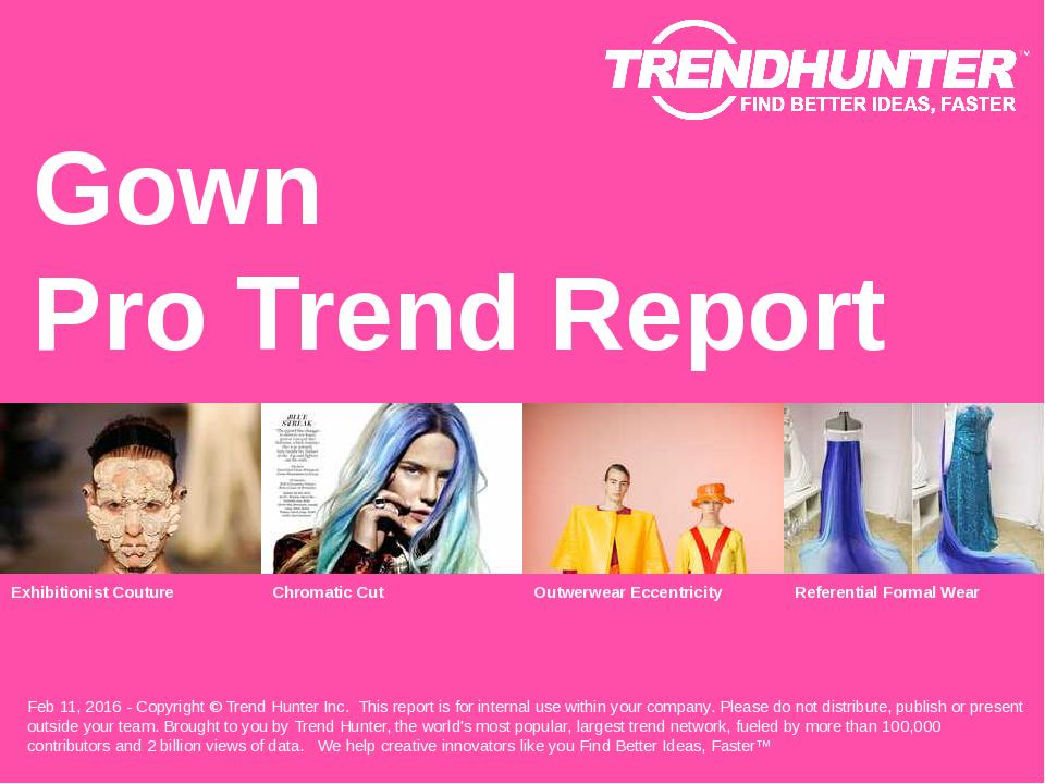 Gown Trend Report Research