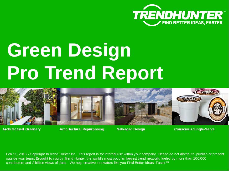 Green Design Trend Report Research