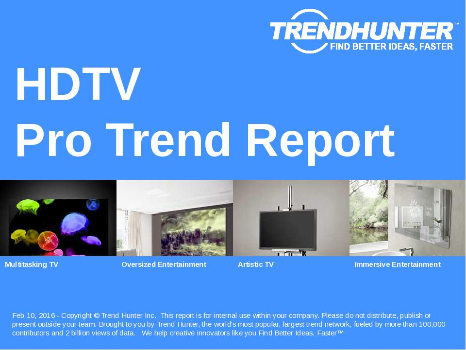 HDTV Trend Report Research