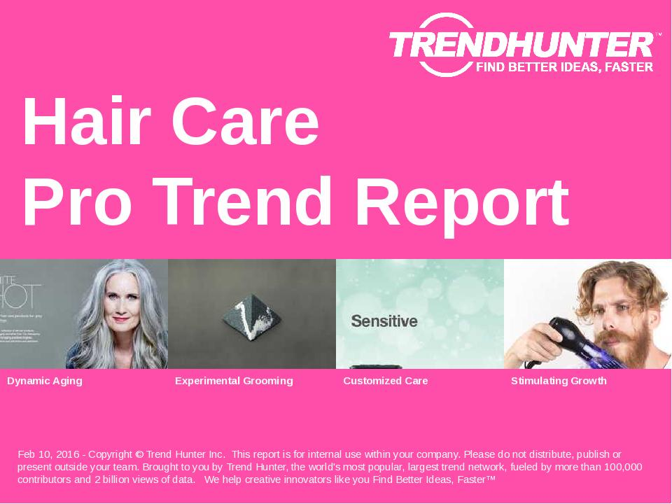 Hair Care Trend Report Research