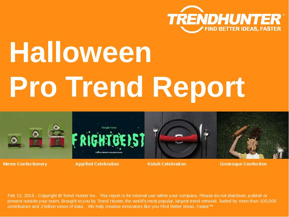 Halloween Trend Report Research