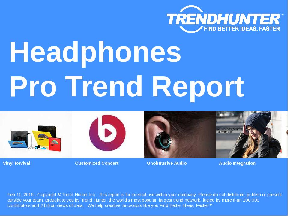 Headphones Trend Report Research