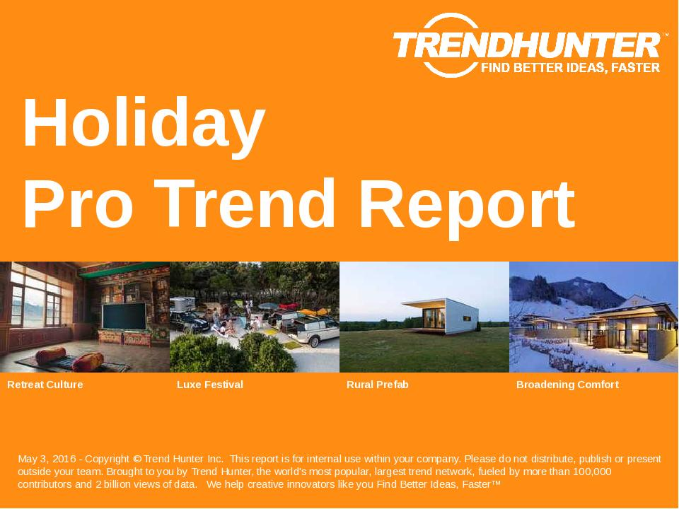 Holiday Trend Report Research