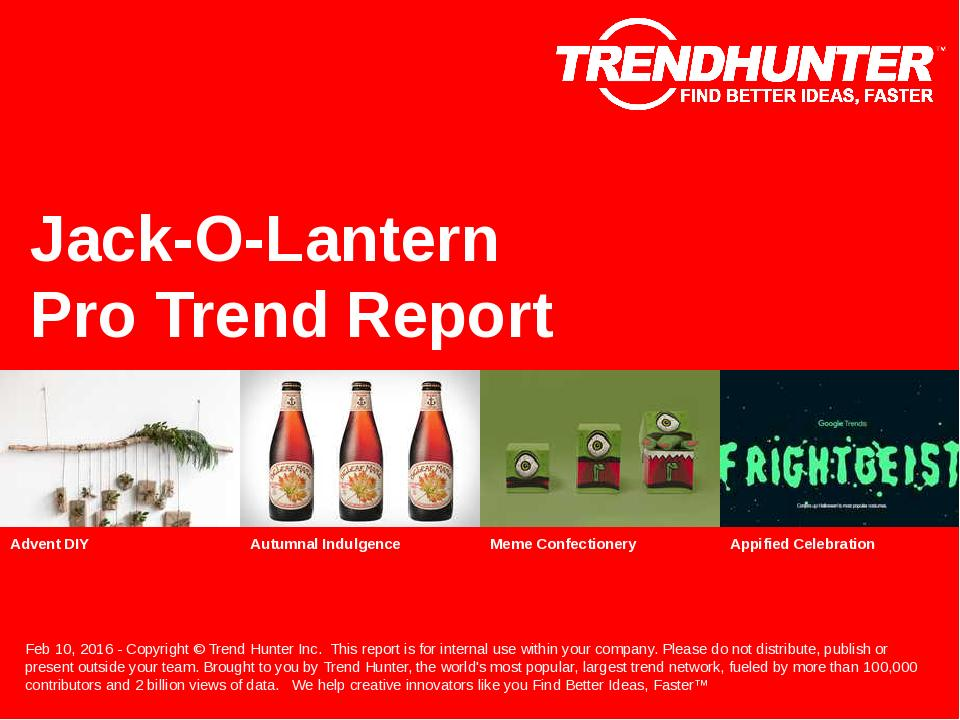 Jack-O-Lantern Trend Report Research